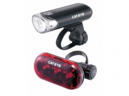 Cateye HL-EL135 & LD130 Light  Set